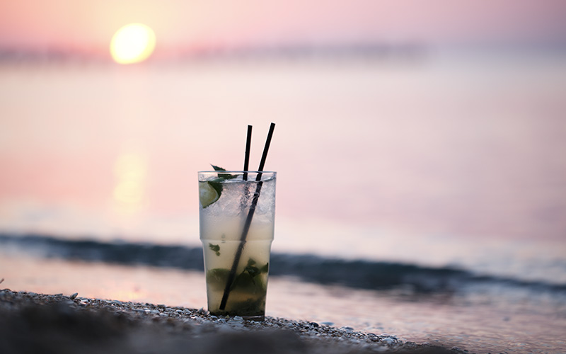 Beautiful ocean, vegan meals and, peace of mind